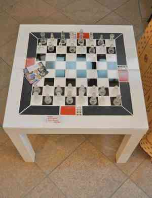 table échiquier