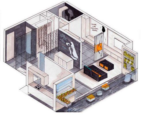 aménagement appartement témoin